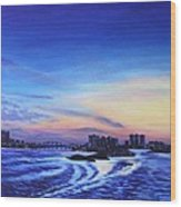 Clearwater Beach Sunset Wood Print