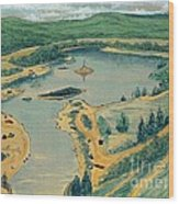 Clearwater Lake Early Days Wood Print