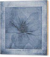 Clematis Cyanotype Wood Print