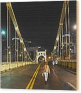 Clemente Bridge Stragglers Wood Print