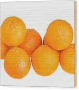 Clementine Oranges Wood Print