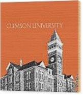 Clemson University - Coral Wood Print