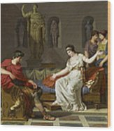 Cleopatra And Octavian Wood Print
