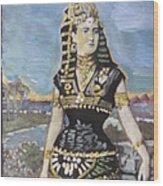 Cleopatra The Last Pharoah Of Egypt Wood Print