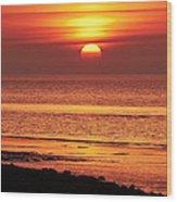 Clevedon Sunset Wood Print