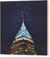 Cleveland Electrified Wood Print