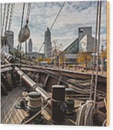 Cleveland From The Deck Of The Peacemaker Wood Print by Dale Kincaid