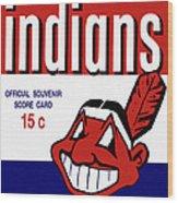 Cleveland Indians 1957 Scorecard Wood Print