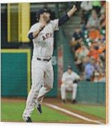 Cleveland Indians v Houston Astros Wood Print