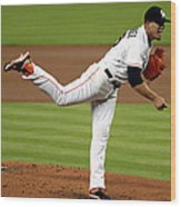 Cleveland Indians V Miami Marlins Wood Print
