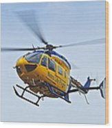 Cleveland Metro Life Flight Wood Print