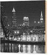 Cleveland Shining Bright Wood Print