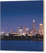 Cleveland Skyline Dusk Wood Print