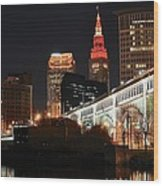 Cleveland Up Close Wood Print