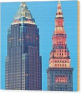 Clevelands Iconic Towers Wood Print