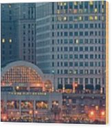 Clevelands Tower City Wood Print