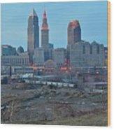 Clevelands Urban Side Wood Print