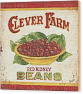 Clever Farms Beans Wood Print