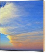 Click #5 From A Rest Stop On The Chesapeake Bay Bridge Tunnel Wood Print