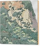 Cliff Above Will Rogers Beach Wood Print