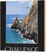 Cliff Divers Of Acapulco Wood Print