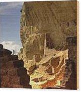 Cliff Dwelling Wood Print