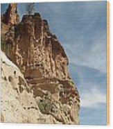 Cliff Dwellings Wood Print