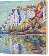 Cliff Landscape Wood Print