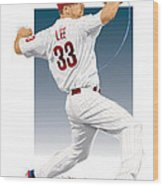 Cliff Lee Wood Print