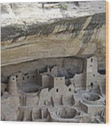 Cliff Palace Overview Wood Print