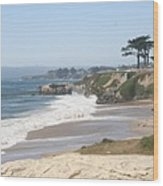 Santa Cruz Cliffline  Wood Print