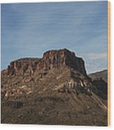 Cliffs Above Apache Lake Wood Print