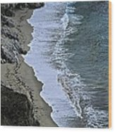 Cliffs And Surf Big Sur Coast Wood Print by Elery Oxford