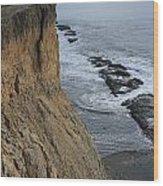 D3a6138-cliffs At Bolinas  Wood Print