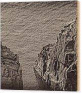 Cliffs At Bonavista Wood Print