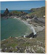 Cliffs In Bretagne Wood Print