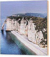 Cliffs Of Etretat 1 Wood Print