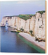 Cliffs Of Etretat 3 Wood Print