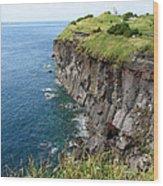 Cliffs Of Korea Wood Print