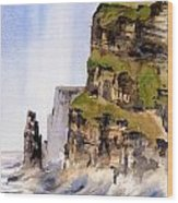 Clare   The Cliffs Of Moher   Wood Print