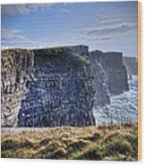 Cliffs Of Moher - Late Afternoon Wood Print