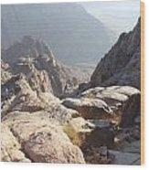 Cliffs Of Mount Sinai Wood Print