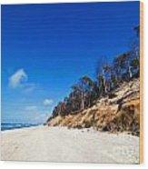 Cliffs On A Sunny Beach Wood Print