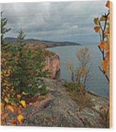 Cliffside Fall Splendor Wood Print