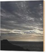 Clifftop Silhouettes Wood Print