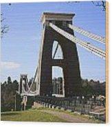 Clifton Suspension Bridge Bristol Wood Print