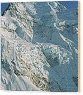 Climber Enjoying View Of Mt Cook Wood Print
