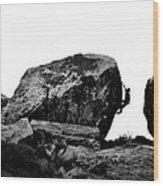 Climber Silhouette 4 Wood Print