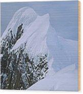 Climbers On Summit Ridge Of Mt Scott Wood Print