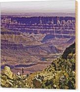 Climbing In Grand Canyon Wood Print